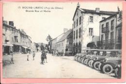 Bourg-Lastic - Grande Rue Et Mairie Parfait état - Autres Communes