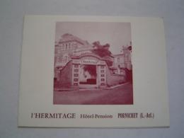 CARTE TOURISME : HOTEL L' HERMITAGE / PORNICHET / BRETAGNE Vers 1960 - Dépliants Touristiques