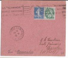 1935 - POSTE MARITIME - CARTE Du VOYAGE INAUGURAL Du PAQUEBOT NORMANDIE Avec MECA => ST PIERRE ET MIQUELON - Maritime Post