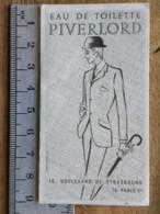 Carte Parfumée - Eau De Toilette PIVERLORD Paris - Calendrier 1972, R BOUCARD Coiffeur, 2 Rue Gautte, 85 St Gilles Croix - Perfume Cards