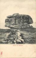 - Finistère -ref-E301- Guilvinec -rocher - Megalithe - Megalithes -edit Kunzli N°2225 - Publicité Moka Williot Chicorée - Guilvinec
