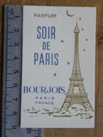 Carte Parfumée - BOURJOIS PARIS - Parfum SOIR DE PARIS - Perfume Cards