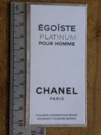 Carte Parfumée - CHANEL -  Egoïste Platinum Pour Homme - Fougère - Aromatique - Boisé - Perfume Cards