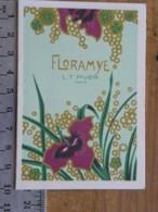 Carte Parfumée -L.T. PIVER - Floramye - Pub Parfumerie BONNETAIN, 46 Rue A.Masson 21 AUXONNE, Calendrier 1983 - Perfume Cards