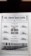 Ancienne Pub Automobile  De Dion Bouton Journal Industriel 8,14,25,10,18, Et 35 HP  Puteaux Seine ( Grand Format) - Publicités