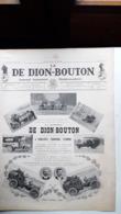 Ancienne Pub Automobile  De Dion Bouton Journal Industriel ,Puteaux Seine ( Grand Format) - Publicités