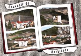 Souvenir De ... BARBIERES - Eglise - Tour De Pélafol - Usines De Tissage - Vue Générale - Livre Ouvert - Frankrijk