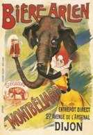 Carte Postale -reproduction Affiche - Bière Arlen - Montbéliard - Dijon - Pubblicitari