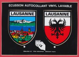 2 ÉCUSSONS AUTOCOLLANTS De LAUSANNE _Ville Et Blason TBE ** 2 SCANS - VD Vaud