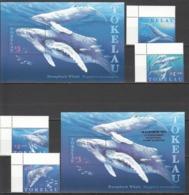 U1007 1997 TOKELAU FISH & MARINE LIFE HUMPBACK WHALE OVERPRINT !!! #244-7 1SET+2BL !!! MICHEL 18 EURO !!! MNH - Baleines