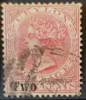 CEYLON 1888 - Canceled - Sc# 146 - 2c Overprinted - Ceylon (...-1947)
