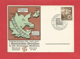 DR Privat Ganzsache 1939 Aschaffenburg 1. Mainfränkische Werbeschau Sonderstempel Sammlergruppe - Germany