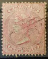 MAURITIUS 1863/72 - Canceled - Sc# 35 - 4p - Mauritius (...-1967)
