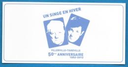 CPM Grand Format - Un Singe En Hiver - Gabin Belmondo - Villerville 2012 - Actors
