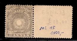 Afrique Orientale Britannique YT N°14 Neuf ** MNH Superbe Bord De Feuille. TB. A Saisir! - British East Africa