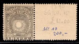 Afrique Orientale Britannique YT N°16 Neuf ** MNH Superbe Bord De Feuille. TB. A Saisir! - British East Africa