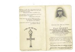 Faire-part De Décès PAUL RODET Sous Lieutenant 13eme Chasseurs à Cheval CROIX DE GUERRE Légion D'Honneur POPERINGHE 1918 - Santini