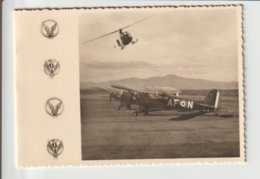 """AIATION / PHOTO """"AVION ET HELICOPTERE """" Sur PETIT ENCART - Aviazione"""