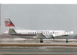 PHOTO AVION SAAB 340 PROVINCIAL AIRLINES C-FPAG   14X10CM - 1946-....: Era Moderna