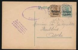 LEUVEN  L.FIRQUET      - DUITSE CONTROLE STEMPEL 1916 - NAAR ASSE -  ZIE 2 AFBEELDINGEN - Asse