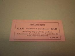 Norwegen 1963 Markenheftchen MH 505 Postfrisch MNH 6,50 Kr Booklet Norge - Markenheftchen