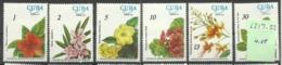"""Kuba 2217-22  """"6 Blumen Verschiedener Arten Im Satz Kpl."""" Postfrisch Mi.: 4,50 - Végétaux"""