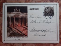 GERMANIA III REICH - Cartolina Postale Viaggiata + Spese Postali - Storia Postale