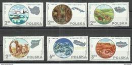 """Polen 2686-91, """"Kpl.Satz Von 6 Polnischen Briefmarken Zum Thema :Forschungsreisen"""" Postfrisch  Mi.:2,60 € - 1944-.... République"""