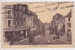 12 RODEZ Rue Beteille Attelage Calèche , Façade Galeries Des Colonnes , Louis Tolède - Rodez