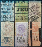 FRANCE 1891/1910 - Canceled - Timbres Affiche - YT 13-18 - Fiscales