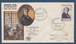 France - FDC - Premier Jour - Jules Michelet - Paris - 1953 - FDC