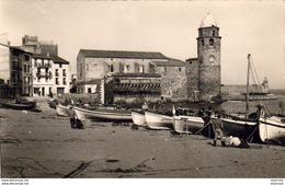 D66  COLLIOURE  L'Eglise- Les Barques De Pêche ..... ( Ref CC1022 ) - Collioure