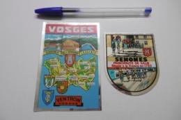 Autocollant Stickers - Blason Ville SENONES SALM - écusson Adhésif Double Face 88 VOSGES - LOT DE 2 Autocollants - Autocollants
