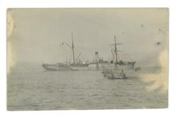 CARTE PHOTO BATEAU ARAGO POSEUR DE CABLES SOUS-MARINS - Schiffe