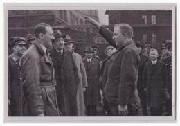 """DT- Reich (000575) Propaganda Sammelbild Adolf Hitler"""""""" Bild 92, Besuch In Einer Fabrik. Ein Vertreter Der Belegschaft - Briefe U. Dokumente"""