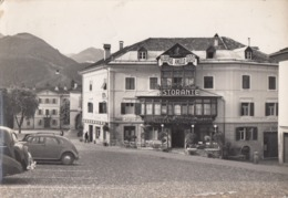 CAVALESE-TRENTO-ALBERGO=ANGELO D'ORO=-CARTOLINA VERA FOTOGRAFIA- VIAGGIATA NEL 1955 - Trento