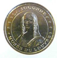 LA JOCONDE MUSEE DU LOUVRE MONNAIE DE PARIS 2014 JETON TOURISTIQUE TOKEN - 2014