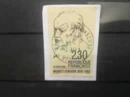 FRANCOBOLLI STAMPS FRANCIA FRANCE 1990 USED FRAMMENTO 100 ANNI MAURICE GENEVOIX OBLITERE FRAGMENT - France