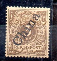 Sello De Oficina Postal De China Nº Michel 1II (*) - Oficina: China
