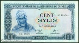 TWN - GUINEA 26a - 100 Sylis 1980 Prefix BG AU - Guinea