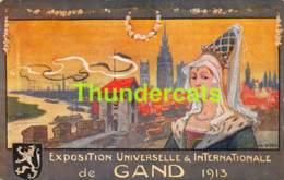 CPA EXPOSITION UNIVERSELLE  INTERNATIONALE GAND 1913 ILLUSTRATEUR VAN NESTE - Gent