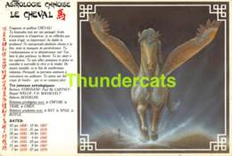 CPSM ILLUSTRATEUR F. CHEVRIER ASTROLOGIE CHINOISE ZODIAQUE ZODIAC LE CHEVAL HORSE - Astronomie