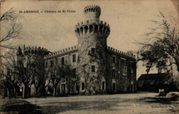30 - SAINT-AMBROIX - Château De Saint-Victor - Saint-Ambroix