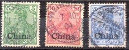 Sellos De Oficina Postal De China Nº Michel 16,17,18 O - Oficina: China