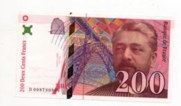200 Francs -gustave Eiffel 1996 - 200 F 1995-1999 ''Eiffel''