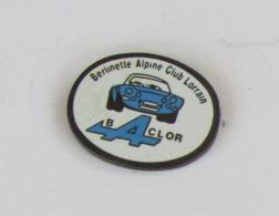 1 Pin's AUTOMOBILE - BACLOR : BERLINETTE ALPINE CLUB LORRAIN - Pin's