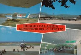 AEROPORTO-AEROPORT-AIRPORT-FLUGHAFEN-AERODROM-REGGIO CALABRIA--ITALY-CARTOLINA VERA FOTOGRAFIA VIAGGIATA - Aerodromes