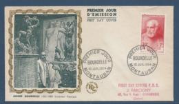 France FDC - Premier Jour - André Bourdelle - Montauban - 1954 - FDC