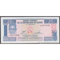 TWN - GUINEA 28a - 25 Francs 1985 Prefix AG UNC - Guinea