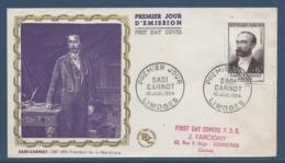 France FDC - Premier Jour - Sadi Carnot - Président De La République - Limoges - 1954 - FDC